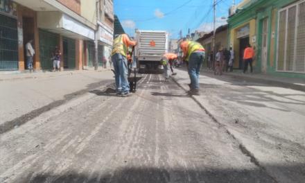Comenzó escarificación en la avenida Bolívar de Villa de Cura