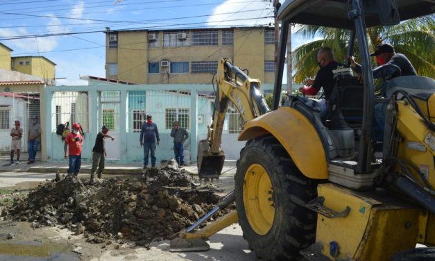 Gobierno de Lamas inició plan de corrección de fugas de agua potable