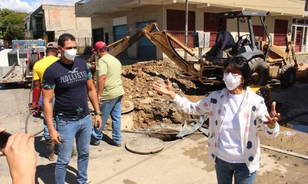 Inician labores de reparación de colectores en el sector Meregotos del municipio Sucre