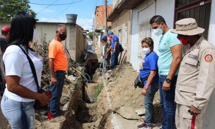 Sustitución de colector beneficia más de 100 familias de La Segundera en el municipio Sucre