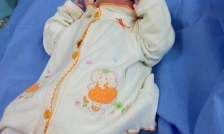 Una niña primera bebé nacida en el hospital José María Benítez de La Victoria