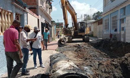 Alcaldía inició trabajos de sustitución de tuberías en el sector Francisco de Miranda de Linares Alcántara