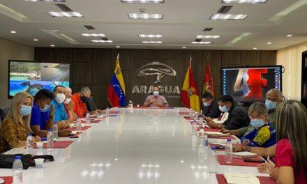 Gobernador Marco Torres instaló segunda mesa de trabajo con bloque parlamentario de Aragua