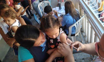 Gobierno Bolivariano brindó atención y garantizó bienestar a niños y niñas con jornada de Intensificación de Vacunación