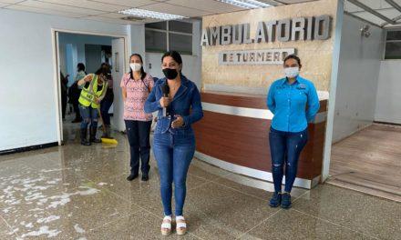 Gobierno Bolivariano de Aragua realizó jornada de limpieza y desinfección en el Ambulatorio de Turmero