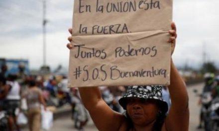 Cadena humana en Colombia exige fin de la violencia