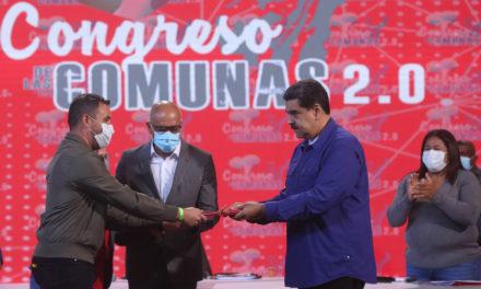 Congreso de Comunas 2.0 presentó 698 propuestas para la construcción del socialismo