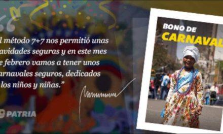 Comenzó entrega del Bono de Carnaval a través del Sistema Patria