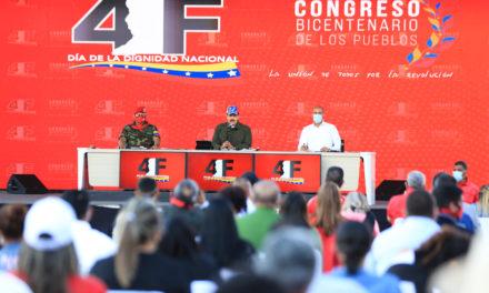 Presidente Maduro junto al Congreso Bicentenario de los Pueblos honró memoria del Comandante Chávez a 29 años del 4-F