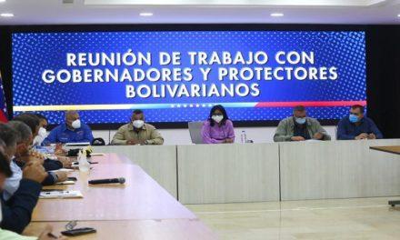 Vicepresidenta Ejecutiva evalúa agenda del Plan Carabobo 200 con gobernadores y protectores