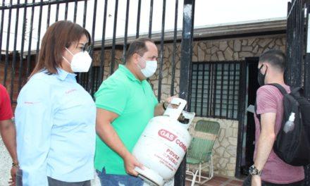 Gas Comunal surtió con 2 mil cilindros de GLP a familias del municipio Libertador en Aragua