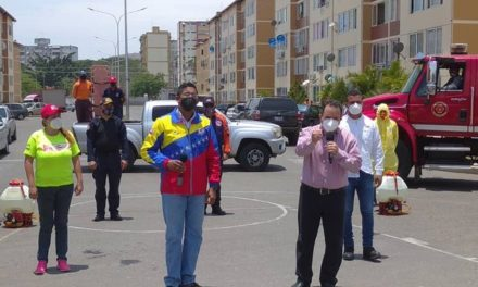 Gobierno Bolivariano realizó jornada de desinfección en Urbanismo Antonio Ricaurte de MBI
