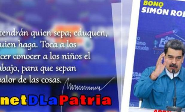 Gobierno comenzó a asignar Bono Simón Rodríguez a trabajadores del sector Educación