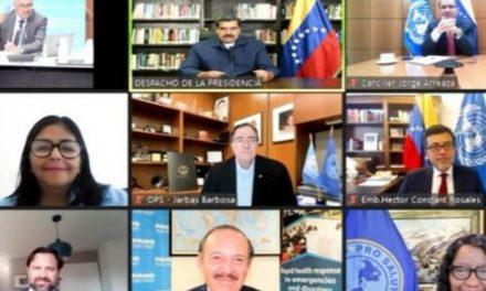 Presidente Maduro solicitó a organismos mundiales de salud agilizar entrega de vacunas del Sistema Covax