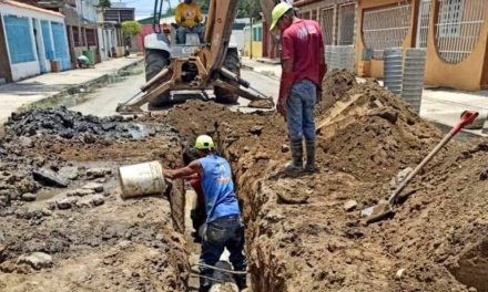 Rehabilitan 22 metros lineales de tuberías de aguas servidas en Bella Cagua