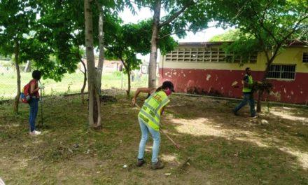 Ejecutivo regional y local realizan labores de mantenimiento y limpieza en sector Bella Cagua del municipio Sucre
