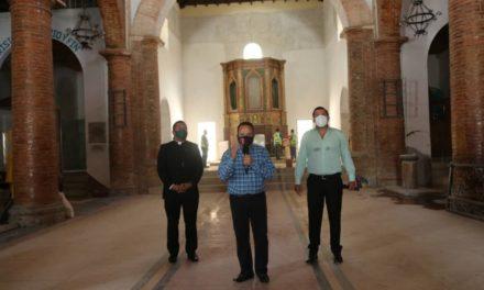 Gobernador Marco Torres inspeccionó avances de obra de rehabilitación de iglesia Nuestra Señora del Buen Consejo