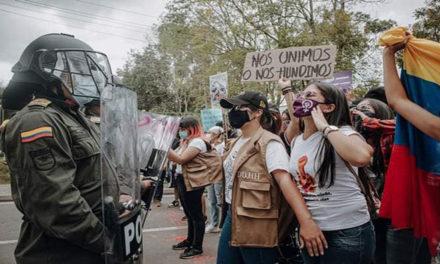 Reportan más de 20 casos de agresión sexual a mujeres durante manifestaciones en Colombia