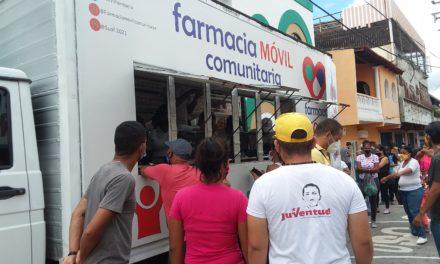 Gobierno Bolivariano desplegó Farmacia Móvil Comunitaria en San Mateo