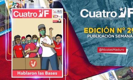 Edición N° 292 del semanario Cuatro F destaca participación de las UBCH en las postulaciones del PSUV