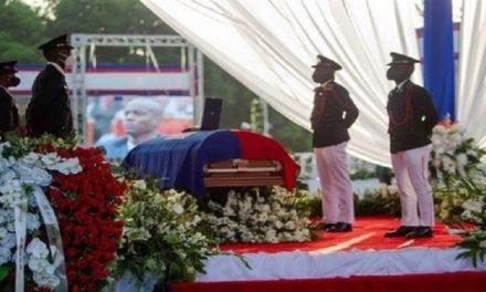 Realizan acto fúnebre del presidente asesinado Jovenel Moïse en Haití