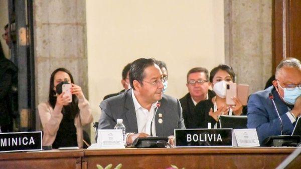 Arce afirma que la OEA ya no representa a América Latina