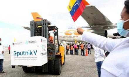 Arribaron a Venezuela 822 mil 240 primeras y segundas dosis de vacunas Sputnik-V