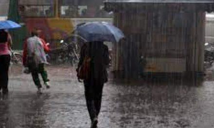 Inameh prevé lluvias de intensidad variable, lloviznas y chubascos